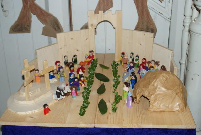 Jesus reitet in Jerusalem ein